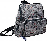 Легкий рюкзак с мультяшным принтом 8 л. Bagland Анюта дизайн, 00164664-cats (Коты)