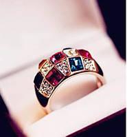 Кольцо ювелирный сплав с кристаллами