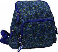 Легкий рюкзак с растительным орнаментом 8 л. Bagland Анюта дизайн, 00164664-b (Синий)