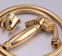 Золотой гигиенический душ в комплекте Fiore Италия