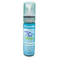 OraLabs Ice Drops Winter Mint Breath Spray - Спрей-освежитель полости рта (Морозная мята), 8.5 мл