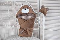 Конверт-одеяло на выписку Мишка