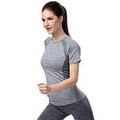 55026fdb59120 Спортивная футболка для тренировок с текстурной вязкой меланж ...