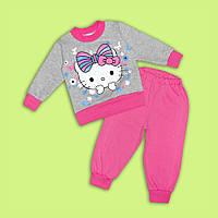 Детский спортивный костюм с Китти 74/80 см розовый