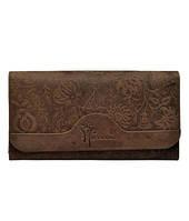 Женский кошелек / клатч из винтажной натуральной кожи премиум качества с тиснением Hawai