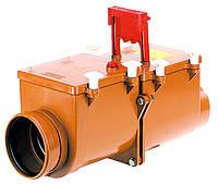2-х камерный канализационный затвор с ручной фиксацией одной заслонки в закрытом положении HL715.2