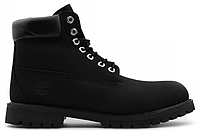 Мужские ботинки Timberland Black (Тимберленд) черные