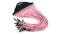 Шнурок-резинка для очков -розовый