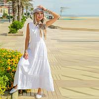 Длинное Летнее белое платье в пол  IN   Белый