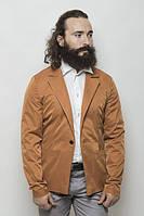 Пиджак мужской, стильный, на одной пуговице 2402/1 (Кирпичный)
