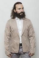Пиджак мужской, стильный, на одной пуговице 2402/1 (Бежевый)