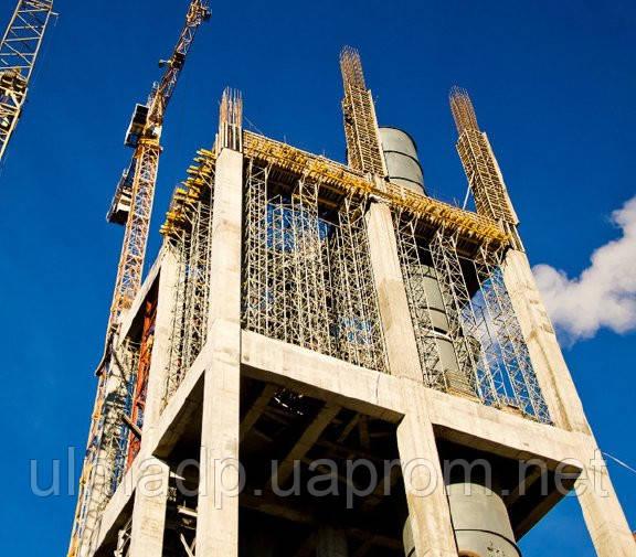 Строительство первого в Украине завода по выпуску специальных цементов.