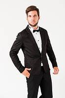 Пиджак мужской, стильный, на одной пуговице 2402/1 (Черный)