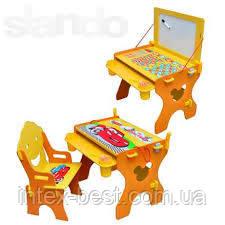 Детская парта Bambi (Metr+) W 017 с магнитной доской и стульчиком , фото 2