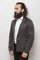 Пиджак мужской с контрастными вставками 2404 (Угольный)