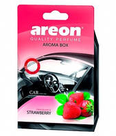 Ароматизатор Areon Aroma Box Strawberry (под сиденье)