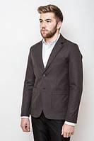 Пиджак мужской на двух пуговицах 2414 (Коричнево-угольный)