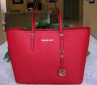 Брендовая женская сумка  Майкл Корс. Красная
