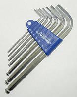 Комплект угловых шестигранников LONG с шаром 2,5-10 мм