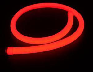 Светодиодный неон, Круглый SL FLEX ( Неон Флекс, FlexNeon) 16 мм. 120-2835 220V Красный  , фото 2