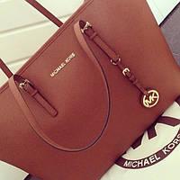 Брендовая женская сумка  Майкл Корс.Коричневая