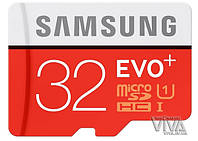 Карта памяти microSD Samsung 32 GB EVO Plus UHS-I Class 10 + Adapter, фото 1