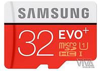 Карта памяти microSD Samsung 32 GB EVO Plus UHS-I Class 10 + Adapter