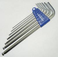 Комплект угловых шестигранников EXTRA LONG с шаром 2,5-10 мм