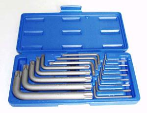 Набір кутових ключів TORX Т6-Т70