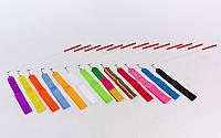 Лента для художественной гимнастики l-6м C-1762 (нейлон l-6м, палочка-металл, l-58см, цвета разные)