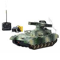 Танк XJ 11 A  на р/у с цветной подсветкой аккум 20см звук, свет в кор-ке 28-15-15см