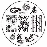 Пластина диск для стемпинга YZW-Y11