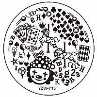 Пластина диск для стемпинга YZW-Y13