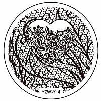 Пластина диск для стемпинга YZW-Y14
