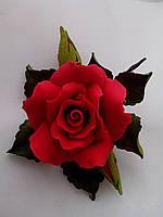 """Роза оформленная d120 """"красная"""" (код 02485)"""