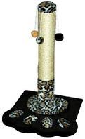 Когтеточка - столбик Природа Д04 Лапка с 4-мя бубонами для кошек 67 см