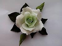 """Роза оформленная """"светло-зеленая"""" d120см. (код 02486)"""