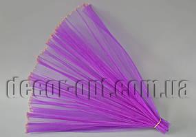 Органза гофрированная фиолетовая с люрексом 48 см / 2м