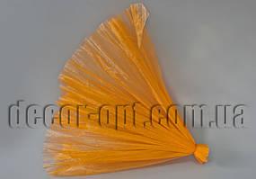 Органза гофрированная комбинированная оранжевая 48 см / 2м