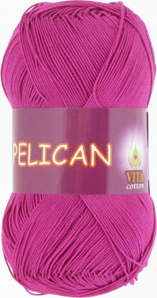 Пряжа Пеликан Pelican (Vita Cotton), № 4002, цикламен