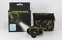 Фонарик на голову BAILONG 2000W BL-6660 CREE, мощный фонарик в чехле, налобный фонарь