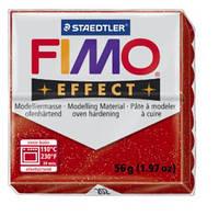 Полимерная глина FIMO Effect, с блестками красный (56г) STAEDTLER. 202/8020