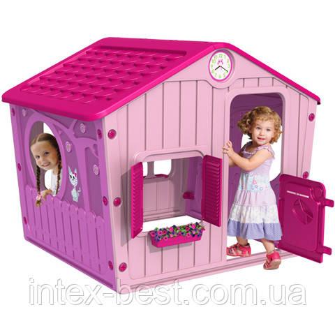 Домик для детей, пластик, открываются ставни и двери, артикул 04-561