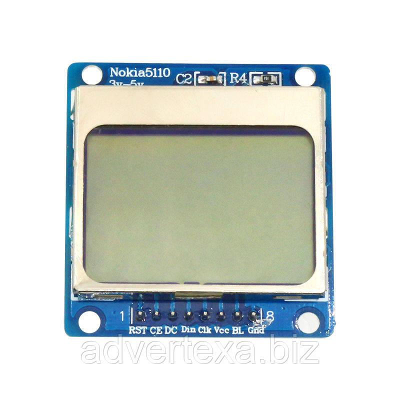 Графический ЖК дисплей Nokia 5110 84x48 Arduino