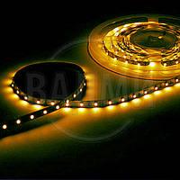 Гибкая светодиодная лента, SMD2835, цвет желтый, 60 св./м, 4.8 Вт/м, без влагозащиты, M-TEK
