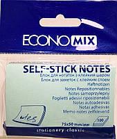 Бумага с липким слоем Economix Е20931-11 100 листов голубая