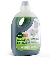 Жидкость КЕМПИНГ для биотуалетов дезодорирующая для верхнего бака, 0,8 л
