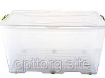 Контейнер пластиковый на колесах с ручкой BigBox №2 -50 л