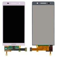 Дисплей для мобильного телефона Huawei Ascend P6-U06, розовый, с сенсо