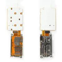 Клавиатурный модуль для мобильного телефона Nokia X3-02, с коннектором карты памяти, с коннектором SIM-карты